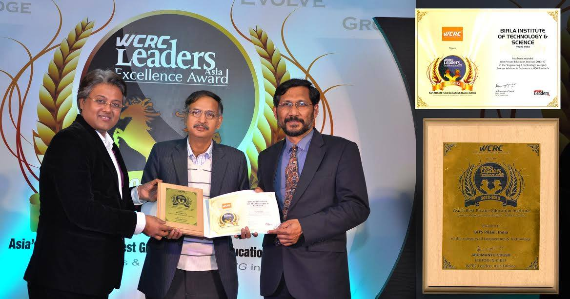 BITS Pilani Hogs Limelight Once Again—Bags Award at WCRC