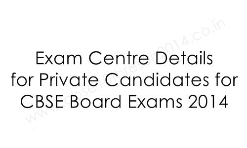 exam centers details