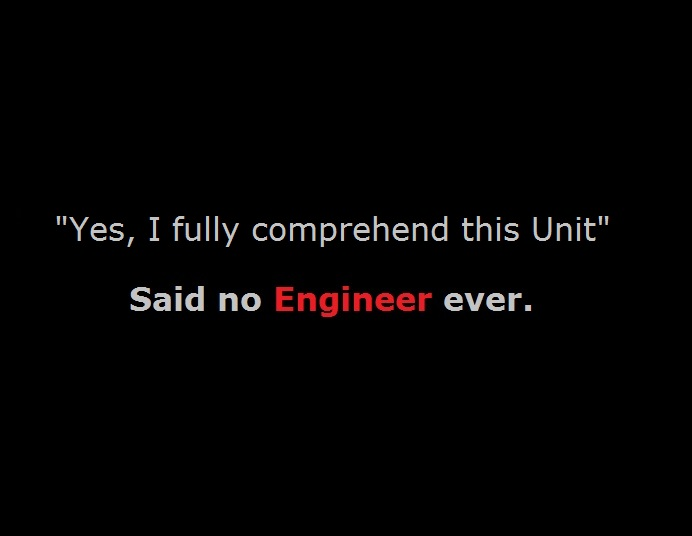 I Fully comprehend this Engineering Class