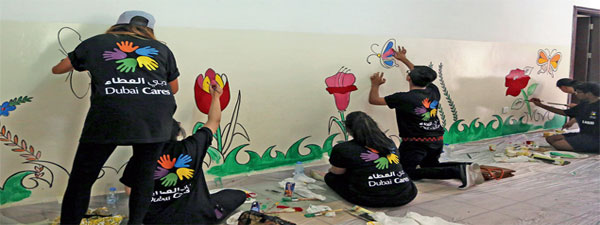 Indian School Renovated and Revamped by 'Dubai Cares' Volunteers