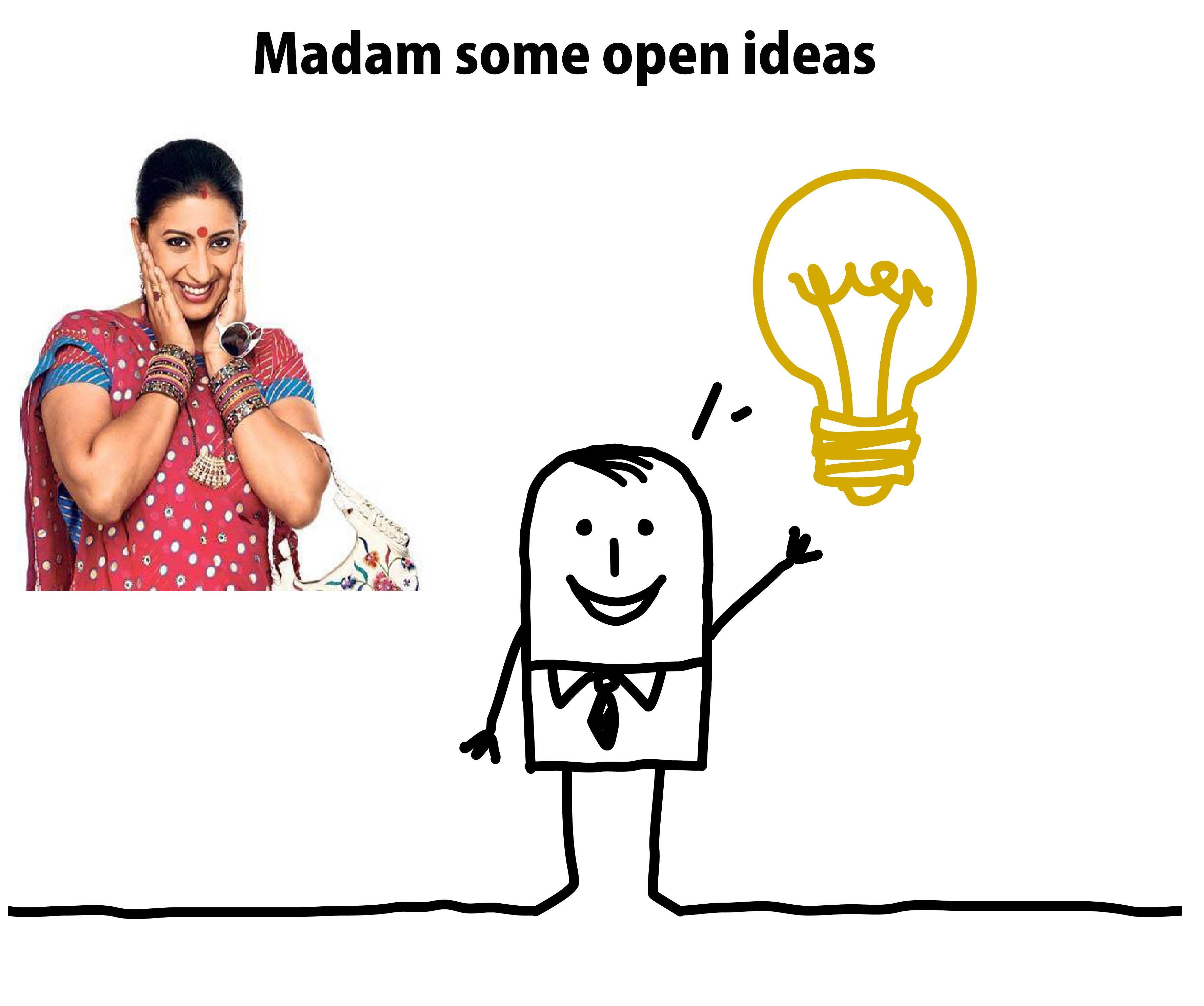 Letter to Smriti Irani: Madam, some open ideas for you!