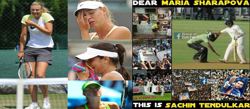 "Angry Sachin Fans Ask ""Who is Maria Sharapova!"""