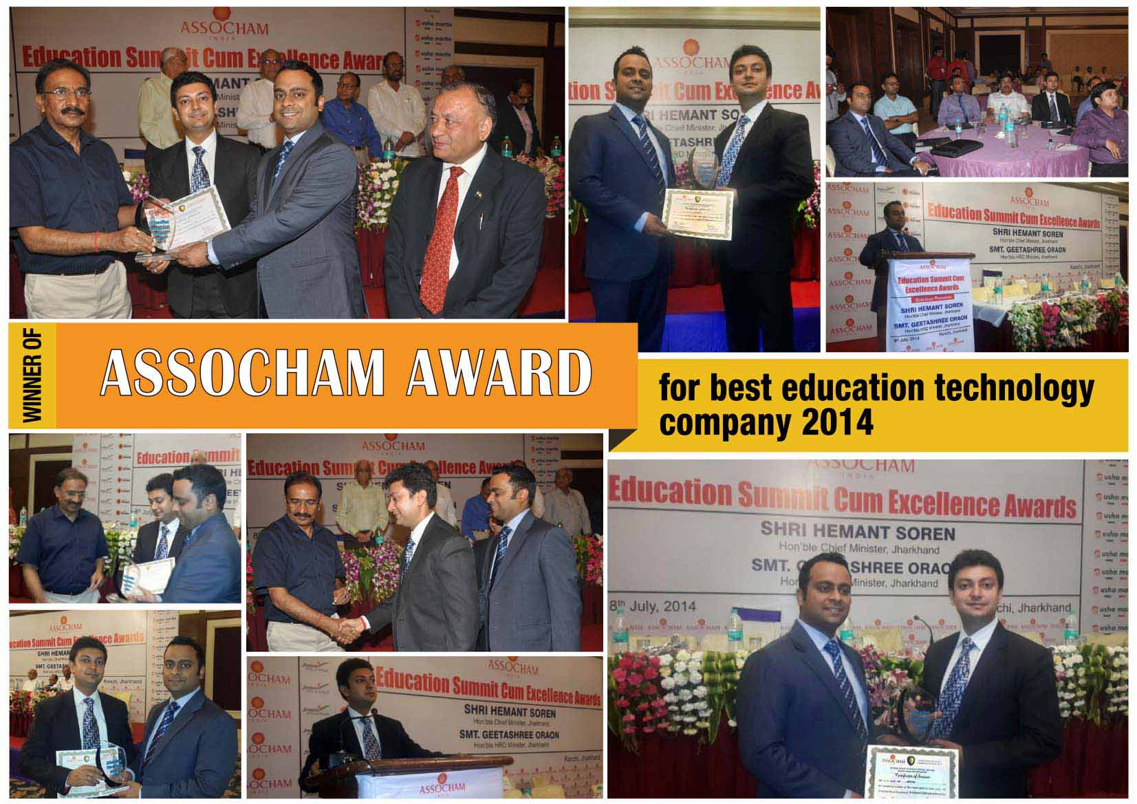 Industry Recognition for askIITians : Award by ASSOCHAM-2014