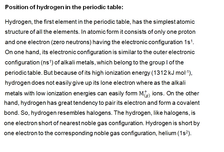Organic chemistry 56777 position of hydrogen in periodic tab 22857107027eg urtaz Images